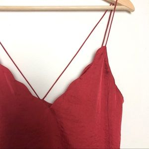 Intimately Free People Satin Scallop Cami